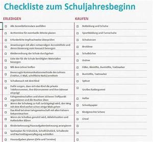 Checkliste Hausbesichtigung Ausdrucken : checkliste zum schuljahresbeginn excel tabelle ~ Lizthompson.info Haus und Dekorationen