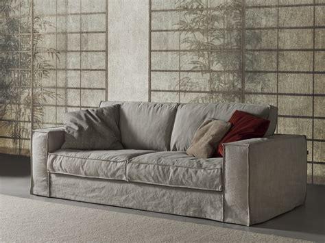 Canapé 3 Places Rembourré En Tissu De Style Contemporain