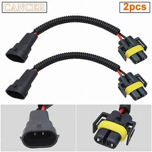 2pcs H11 H8 Extension Wiring Harness Socket Connector For
