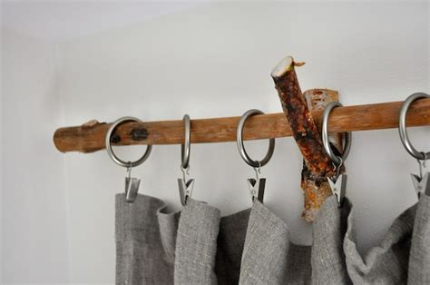 diy rustic branch curtain rods lifeovereasy