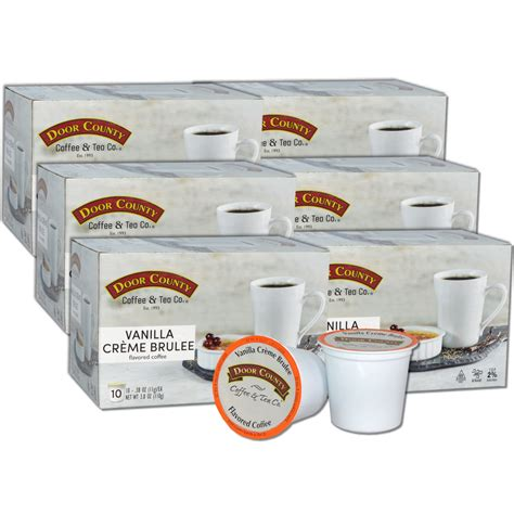 On store features, discount policies, availability of promo codes, payment methods accepted, and shipping and returns policies. Door County Coffee Vanilla Creme Brulee Flavored Coffee Single Serve Cups - 60 Count - Walmart.com