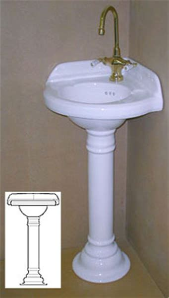 Pedestal Sink For Small Bathroom by Corner Pedestal Sinks For Small Bathrooms Corner Sink