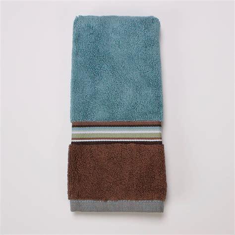 Modern Bathroom Rugs And Towels by Cannon Eastside Stripe Fingertip Towel Home Bed Bath