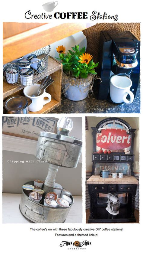 Coffee themed kitchen accessories coffee themed kitchen kitchen remodeling design in cafe theme. Party Junk 206 - creative DIY coffee stations - Funky Junk InteriorsFunky Junk Interiors