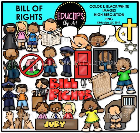 Bill Of Rights Clip Bill Of Rights Clip Bundle Color And B W Welcome