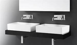 Waschbecken Arbeitsplatte Bad : rechteckige waschbecken aus keramik arbeitsplatte oder an der wand montiert idfdesign ~ Markanthonyermac.com Haus und Dekorationen