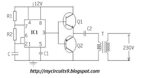 simple inverter circuit   timer mycircuits