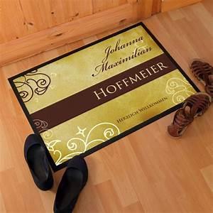 Fußabtreter Mit Namen : fu matte mit namen und nachnamen im stilvollen design ~ Michelbontemps.com Haus und Dekorationen