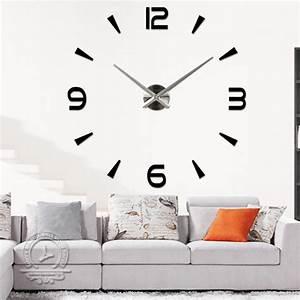 Grande Horloge Murale Design : grande horloge murale moderne grande horloge murale ~ Nature-et-papiers.com Idées de Décoration