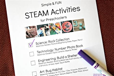 simple and steam activities for preschoolers the 903 | STEAM2Bprintable2Bchecklist