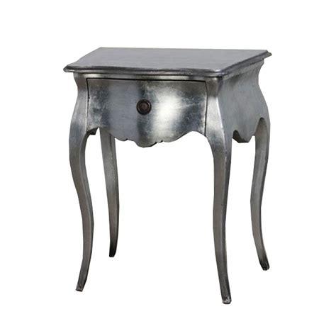 table de chevet argente 2 tables de nuit baroque en acajou argent sarzay meuble de style