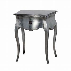 Table De Nuit Baroque : 2 tables de nuit baroque en acajou argent sarzay meuble de ~ Teatrodelosmanantiales.com Idées de Décoration
