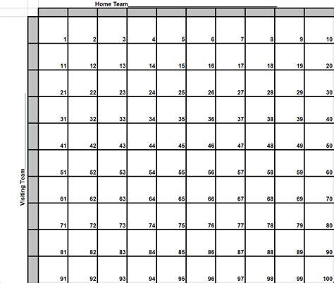 super bowl football squares printable printableecom