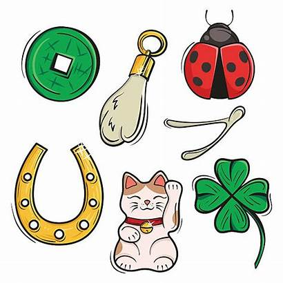 Luck Lucky Charms Symbols Clipart Vector Charm