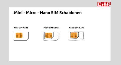 micro sim schablone  vorlage  chip