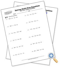 adding and subtracting like terms worksheet collecting