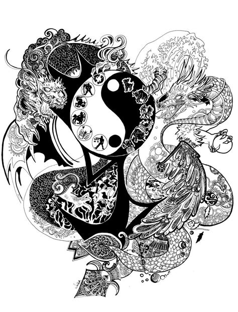 fantasy yin yang | Yin Yang Dragon by blood-pleasures on DeviantArt | Yin yang, Dragon, Mandala