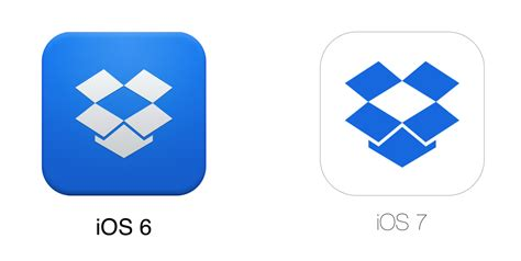 after ios 7 icons dropbox