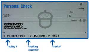 Bank Routing Number On Check Location