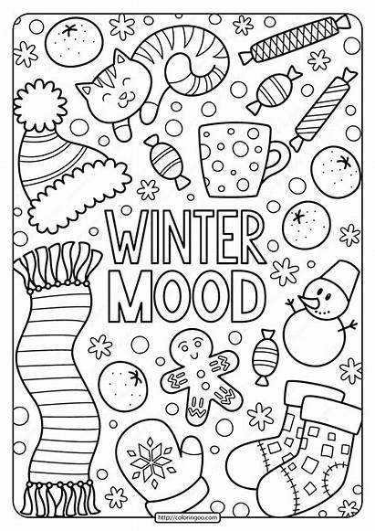 Coloring Winter Printable Pdf Mood Tweet Whatsapp