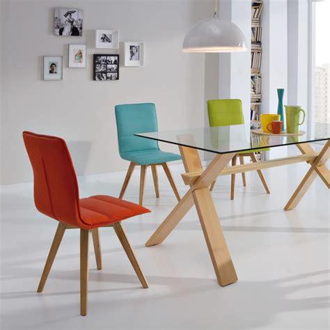 chaises simili cuir duo de chaises turquoise kano univers salle à manger