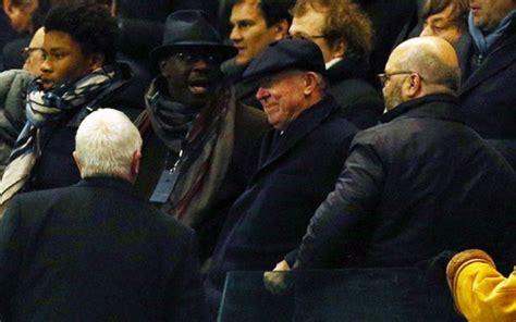 (image) Man United Legend Sir Alex Ferguson On Rival Soil