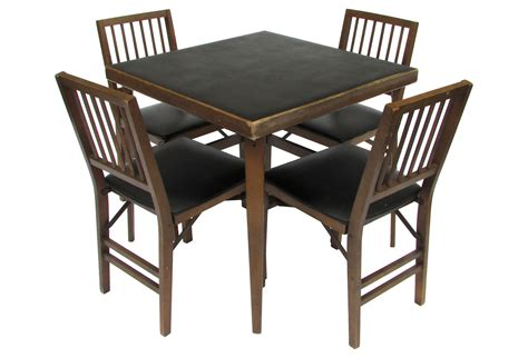 Wood Card Table And Chairs Vermont Wooden Rocking Chairs Papasan Chair Cushion Diy Graco High Cover Uk Medline Transport Accessories Wingback Leather Stakmore Folding Fruitwood Sleeper Canada Kmart Table And Outdoor