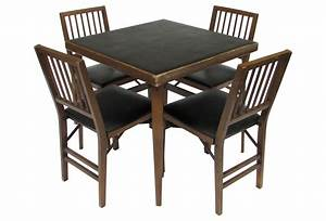 Wood Card Table And Chairs