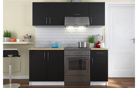 ensemble meubles de cuisine noir pour studio  cm maria