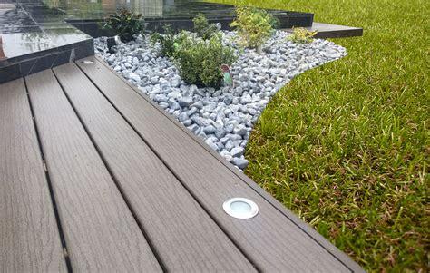 am 233 nagement paysager avec terrasse en bois composite fiberon classic galaxy jardin