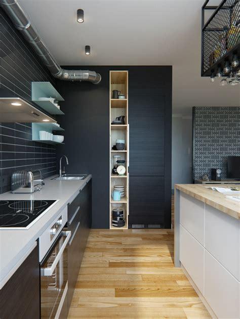 deco cuisine appartement décoration cuisine sombre
