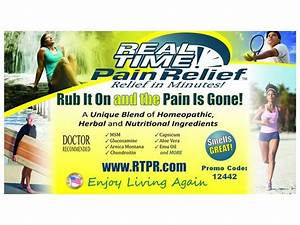 real time pain relief ingredients