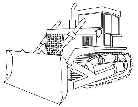 Some tips for printing these coloring pages: Bulldozer With Straight Blade Coloring Page: Bulldozer ...