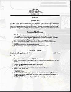 mechanic auto resume occupationalexamplessamples free With automatic resume scanning