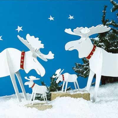 christmas moose holiday woodworking plans for fun yard