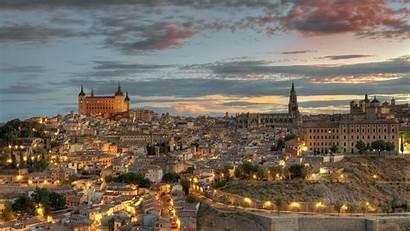Spain Toledo Street Desktop Architecture Building Hill