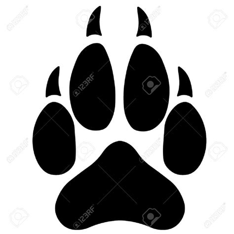 wolf paw print silhouette google search shapes