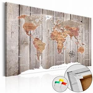 Tableau Du Monde : tableau liege image sur toile xxl art carte du monde k c 0050 p b ebay ~ Teatrodelosmanantiales.com Idées de Décoration