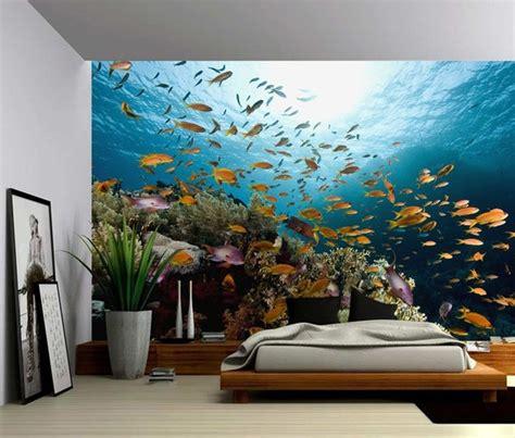 underwater fish ocean world large wall mural  adhesive