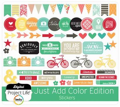 Stickers Edition Digital Scrapbooking Project