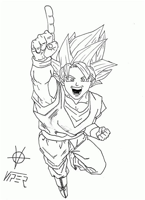 dbz goku ssj coloring pages coloring home