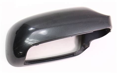 rh exterior side view mirror cap cover   audi   black