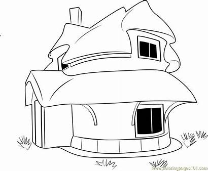 Coloring Rubble Cottage Stone Thatched Pages Coloringpages101