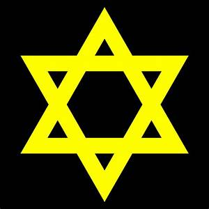 File:Star of David (yellow with black background).svg ...