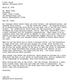 Form Business Letter Format
