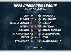 Champions League last 16 draw Arsenal to face Barcelona