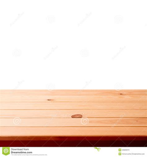 empty wooden table  white background stock image image