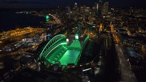 seattle landmarks  action green  seahawks thursday