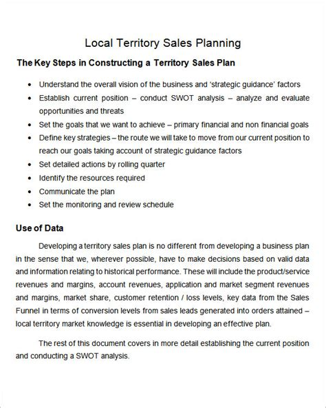 sales territory plan template 24 sales plan templates pdf rtf ppt word excel sle templates