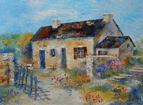 tableau quot la maison de bretagne quot peintures axelle bosler peintures par peintures axelle bosler